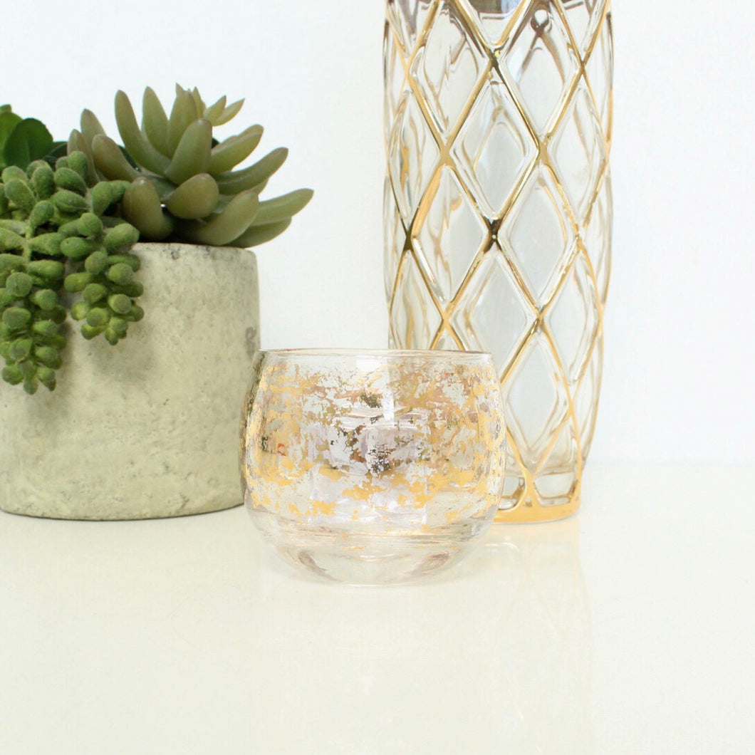Gold Flaked Wine Glass