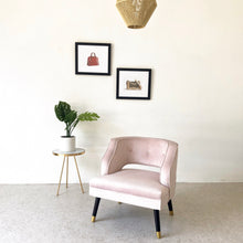 Load image into Gallery viewer, Pink Velvet Maddie Chair