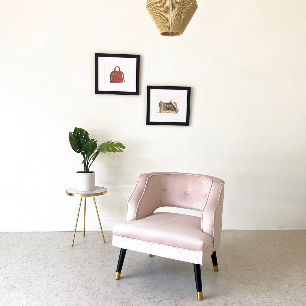 Pink Velvet Maddie Chair