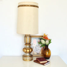 Load image into Gallery viewer, Hollywood Regency Gold Lamp
