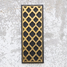Load image into Gallery viewer, Hollywood Regency Black & Gold Geometric Wall Decor