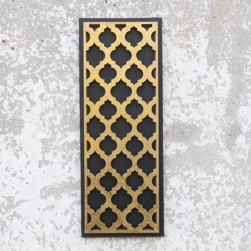Hollywood Regency Black & Gold Geometric Wall Decor