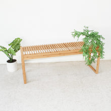 Load image into Gallery viewer, Bamboo Boho Slat Bench