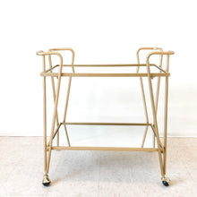 Load image into Gallery viewer, Rosalind Gold Mirror Bar Cart