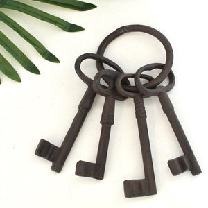 Iron Antique Set of Oversized  Keys Decor