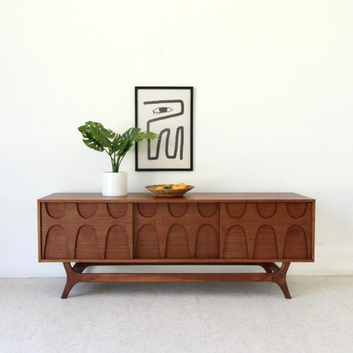 Scandinavian Walnut Credenza by Sunbeam Vintage