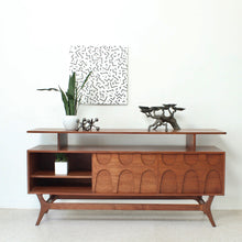 Load image into Gallery viewer, Scandinavian Walnut Credenza with Shelf