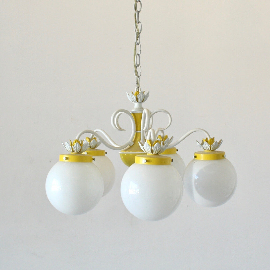Yellow and White Chandelier