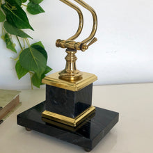 Load image into Gallery viewer, Brass Desk Lamp with Chunky Marble Base