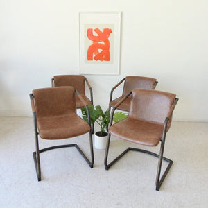 The Theo Chair (Bronze Style Frame with Cigar Brown Seats)