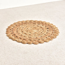 Load image into Gallery viewer, 4' Round Hand-Woven Jute Rug, Natural