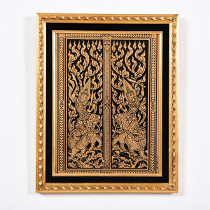 Gold Leaf East Asia Art Framed