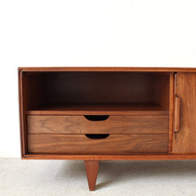 Load image into Gallery viewer, Low Profile Walnut Media Credenza