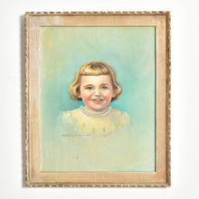 Load image into Gallery viewer, Oil Painting of a Little Girl Framed