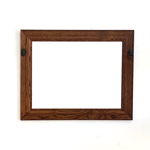 Antique Oak Mirror