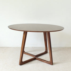 Melbourne Walnut Round Dining Table