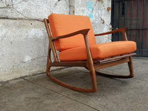 Elliot Rocking Chair in Orange