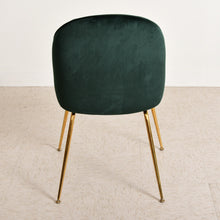 Load image into Gallery viewer, Green Clam Chair with Gold Legs