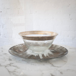 Glassware Display Tray & Bowl