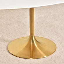 Load image into Gallery viewer, Skype Oval Modernist Table with Brass Base