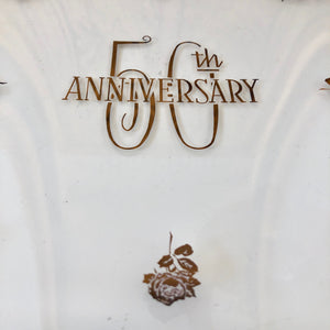 50th Anniversary 24k Gold  Tray