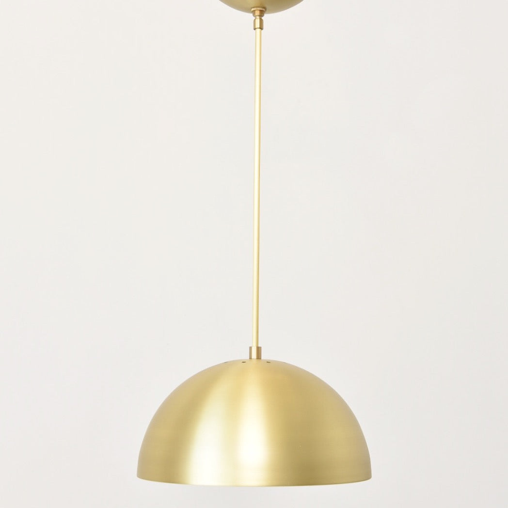 Brass Dome Pendant Light