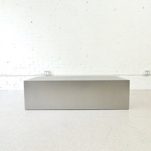 Stainless Plinth Steel Coffee Table