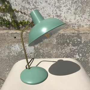 Mint and Gold Desk Lamp