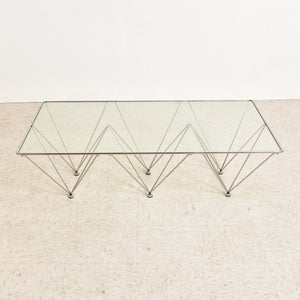 Mid Century Style Chrome and Glass Coffee Table