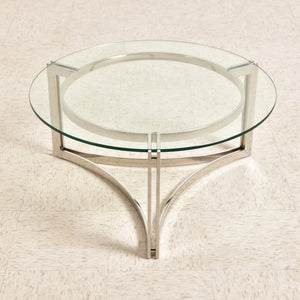 Chrome Circle MOD Coffee Table