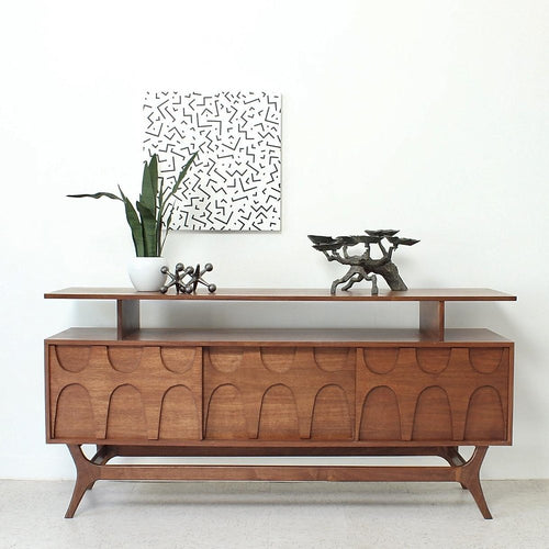 Custom Scandinavian Credenza with Shelf