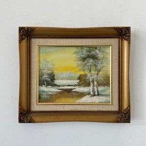 1960's Mid Century Painting Framed Signed