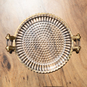 Gold & Glass Tray