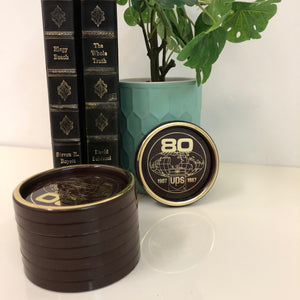 1987' UPS 80th Anniversary Plastic Coasters Set of 8