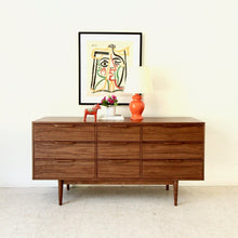 Load image into Gallery viewer, Walnut 9 Drawer Custom Made Dresser by Sunbeam Vintage