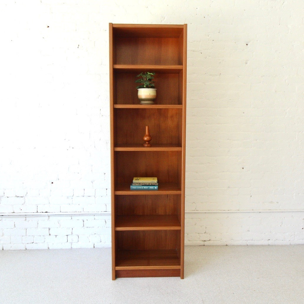 Danish Teak  Narrow Bookshelf