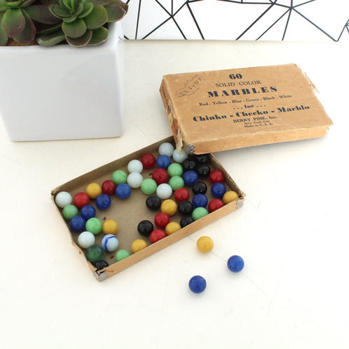 Antique Solid Colored  Marbles for Chinko-Checko