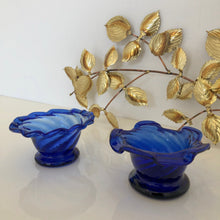 Load image into Gallery viewer, Pair of cobalt   ice cream bowls
