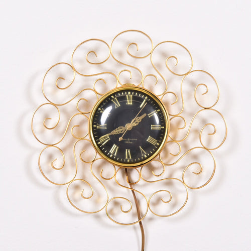 gold ornate clock
