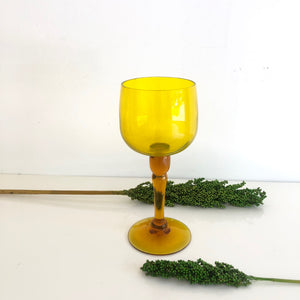 Large Yellow Mustard Gold Decor Glass