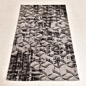 Grey and Black Pattern Rug