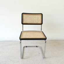 Load image into Gallery viewer, Black and Wicker Chrome Chair