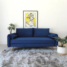 Load image into Gallery viewer, Nalini Deep Blue Velvet Sofa