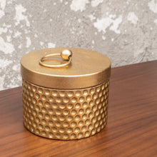 Load image into Gallery viewer, Gold Hammered Trinket Tin