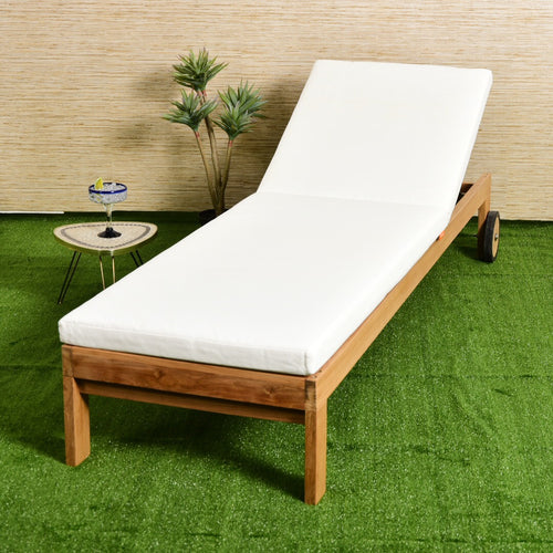 Sleek Teak Lounger