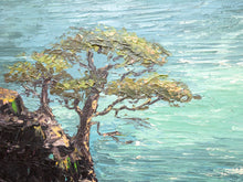 Load image into Gallery viewer, Original oil on Masonite landscape painting of Monterey California