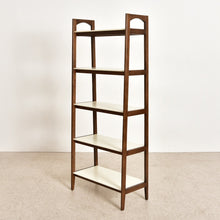 Load image into Gallery viewer, Moby White and Walnut Bookshelf