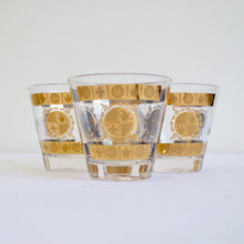 Load image into Gallery viewer, Golden Royal Stamp set 4 Glasses