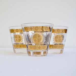 Golden Royal Stamp set 4 Glasses