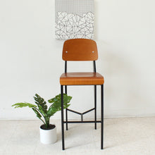 Load image into Gallery viewer, Modernist Prouvé Style Barstool